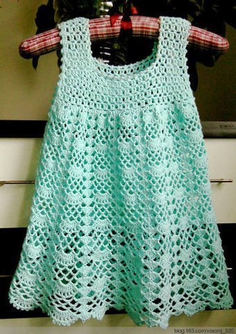 Fan mesh baby dress pattern crochet ? Crochet Kingdom