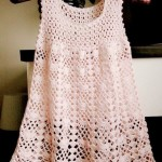 Fan mesh baby dress pattern crochet