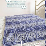 Flower square crochet blanket pattern