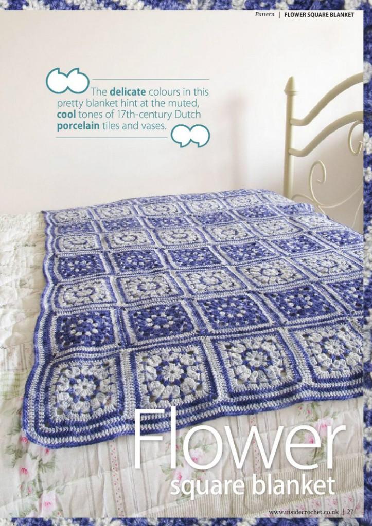 flower square crochet blanket pattern 1