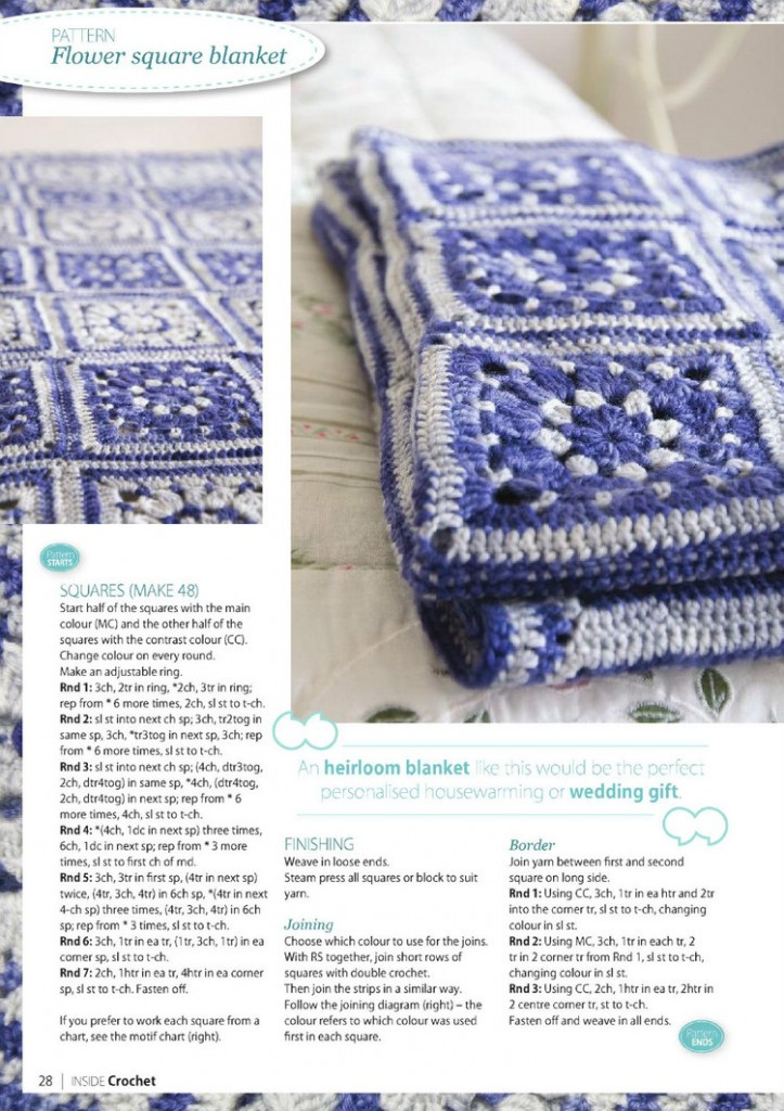 flower square crochet blanket pattern 2