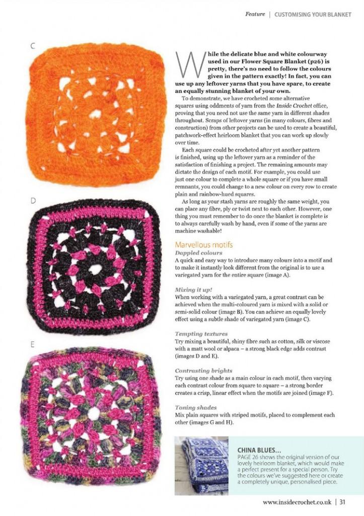 flower square crochet blanket pattern 5