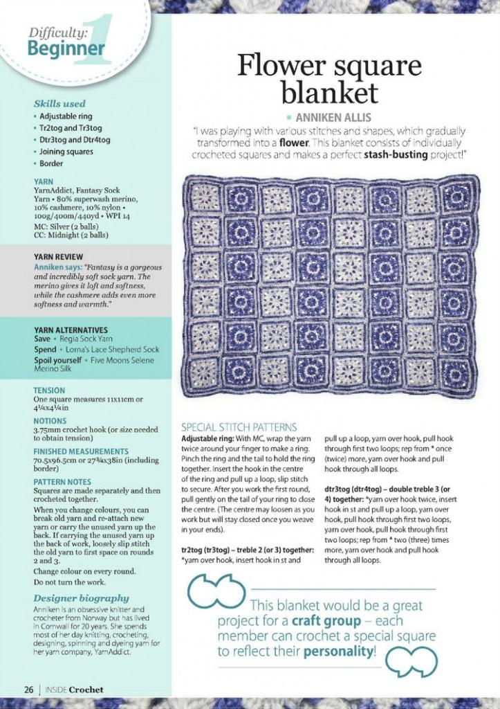 flower square crochet blanket pattern