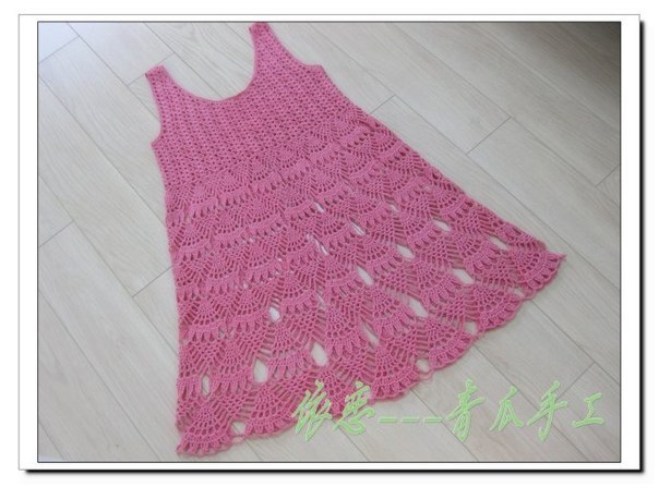 Free Crochet Pattern Pineapple Baby Dress Crochet Kingdom