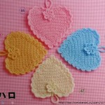 Heart crochet coasters