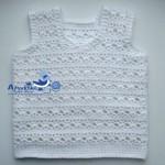 Interesting baby vest stitch crochet