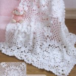 Lace Squares Crochet Baby Blanket