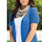 Little lacy cardigan crochet pattern