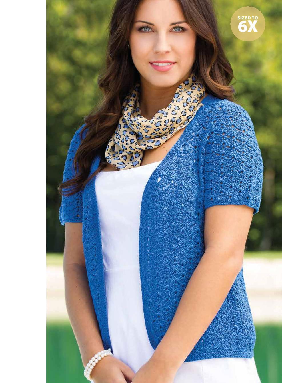 Little lacy cardigan crochet pattern ⋆ Crochet Kingdom