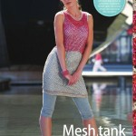 Mesh tank dress crochet pattern