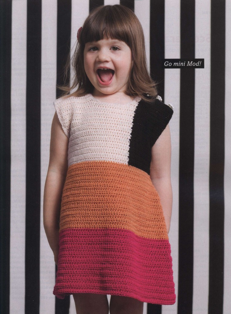 minimod dress crochet pattern for girls