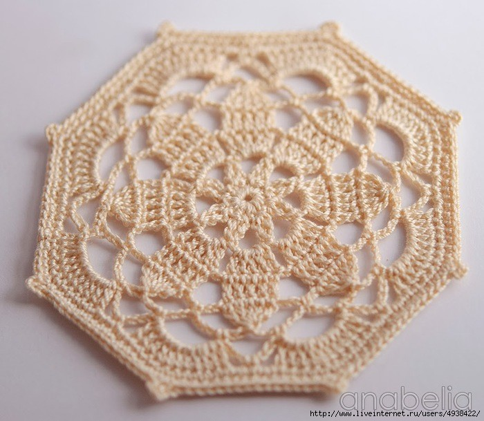 octagon - crochet coaster pattern