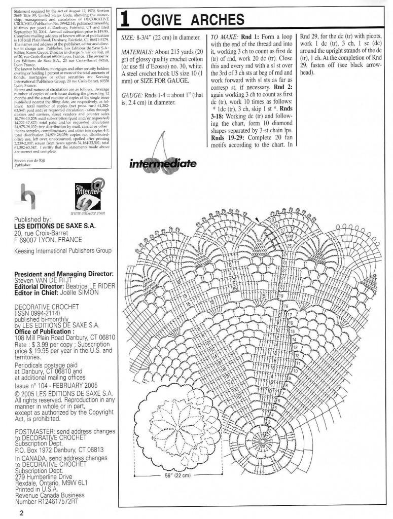 Ogive Arches Crochet Doily Pattern ⋆ Crochet Kingdom