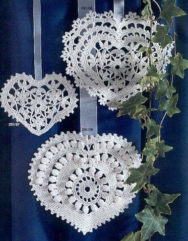 3 Ornamental Heart Crochet Patterns ⋆ Crochet Kingdom