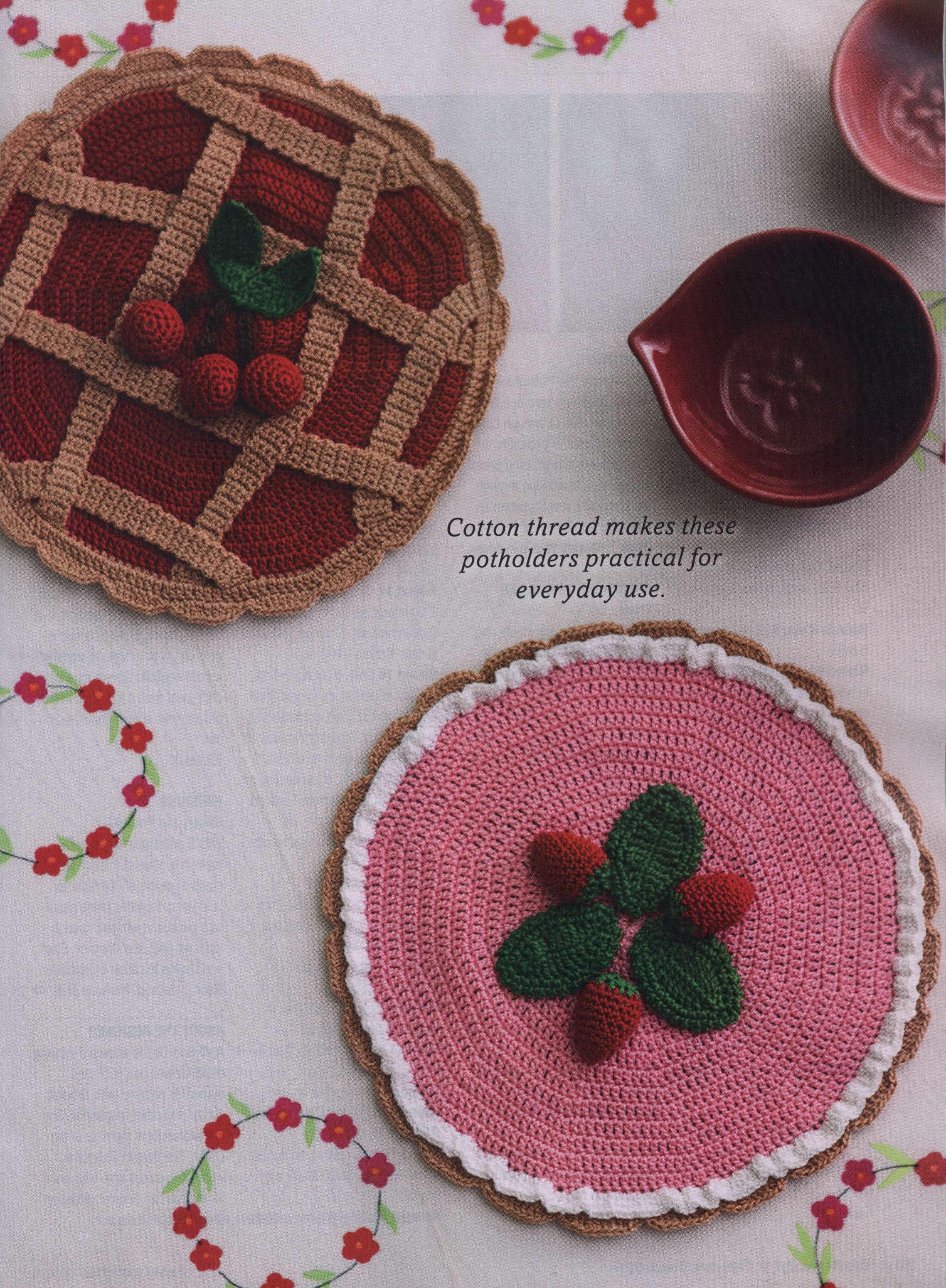 Pie Shaped Potholders Crochet Pattern Crochet Kingdom