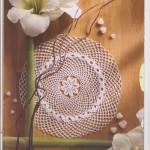 Round Mesh Crochet Doily Pattern