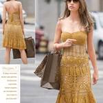 Sexy crochet summer dress