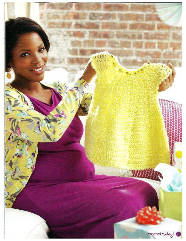 sunshine baby dress pattern crochet 1