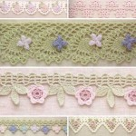 6 Lace Crochet Edges with Flowers