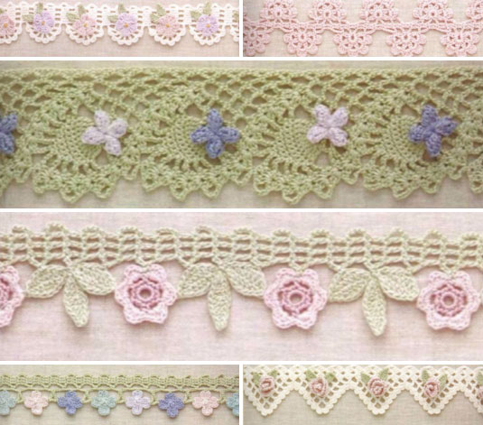 6 Lace Crochet Edges With Flowers Crochet Kingdom