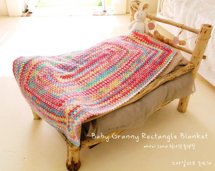 Baby granny rectangle blanket pattern