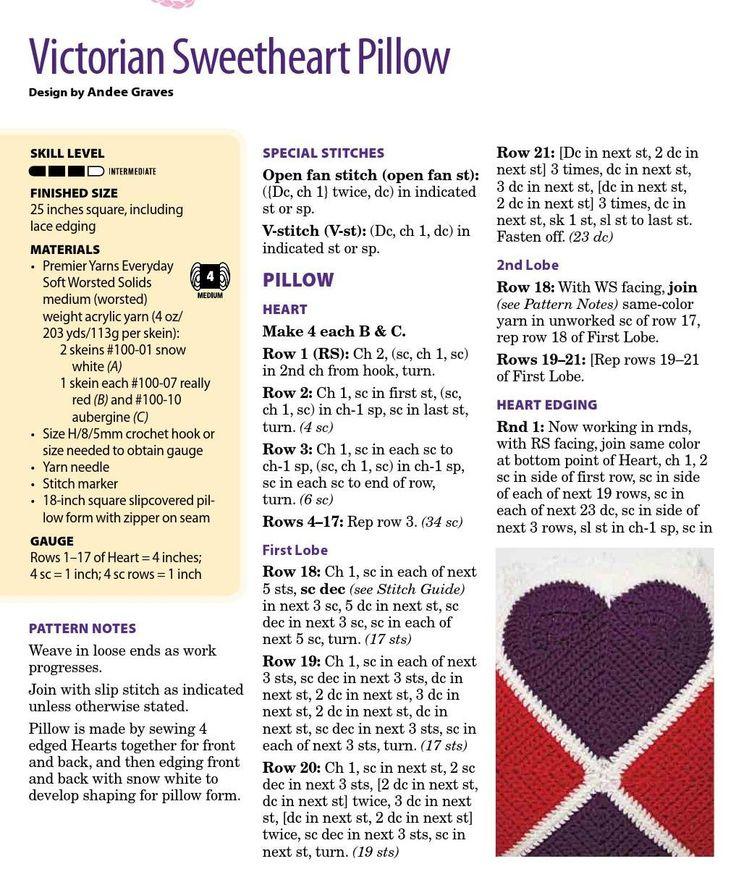 Crochet Heart pillow 2
