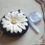 Daisy flower crochet pattern diagram
