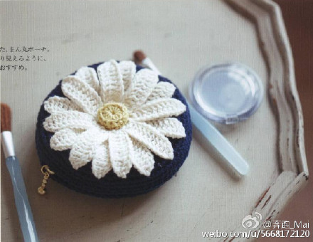 Daisy flower crochet pattern diagram