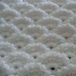Dense Textured Fan Crochet Stitch