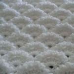 Dense Textured Fan Crochet Stitch