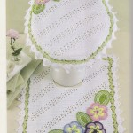 Diagonal Striped Crochet Bathroom Set Pattern