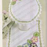 Diagonal Striped Crochet Bathroom Set Pattern