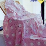 Baby afghan booties and cap crochet set