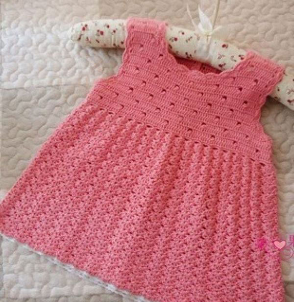 Sleeveless baby Crochet Dress Pattern ⋆ Crochet Kingdom