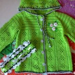 Cotton jacket and headband for girls free crochet