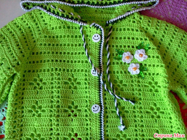 cotton jacket and headband for girls free crochet 2