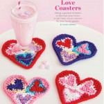 Heart Shaped Crochet Coasters