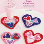 Heart Shaped Crochet Coasters