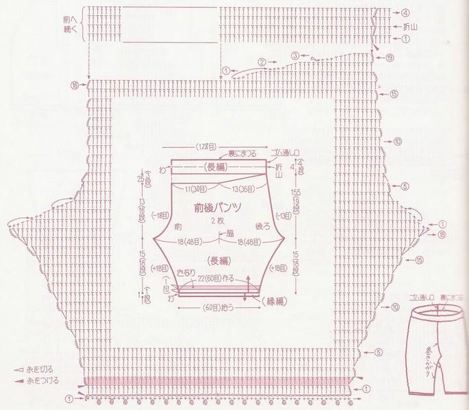 Схемы для вязания штанов