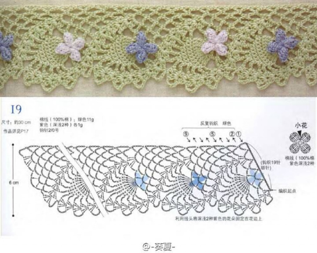 crochet lace diagram 1