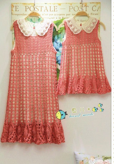 Lace crochet pineapple girls dress