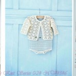 Lace motif baby jacket pattern