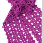 Lace scarf crochet pattern