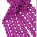 Lace scarf crochet pattern