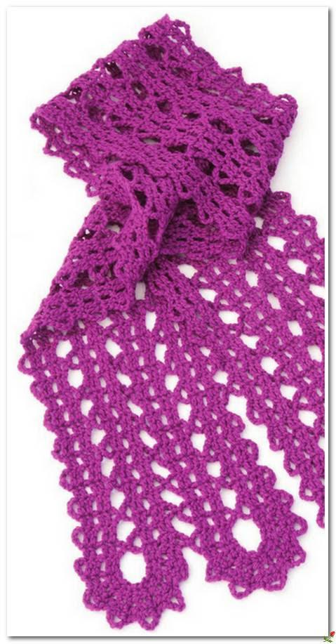 lace sacrf crochet pattern