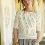 Lovely crochet top three quarter sleeve
