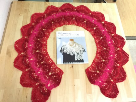 ombre pineapple shawl crochet 3