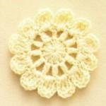 Petal circle crochet