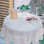 Round crochet tablecloth apttern