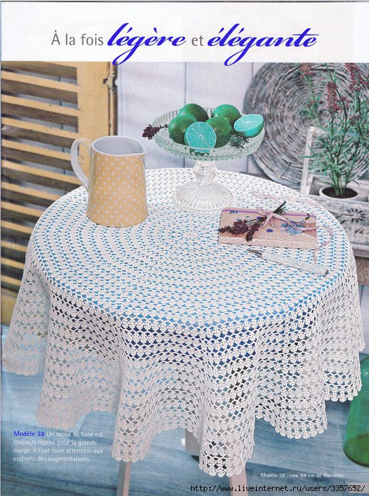 Round crochet tablecloth apttern ? Crochet Kingdom